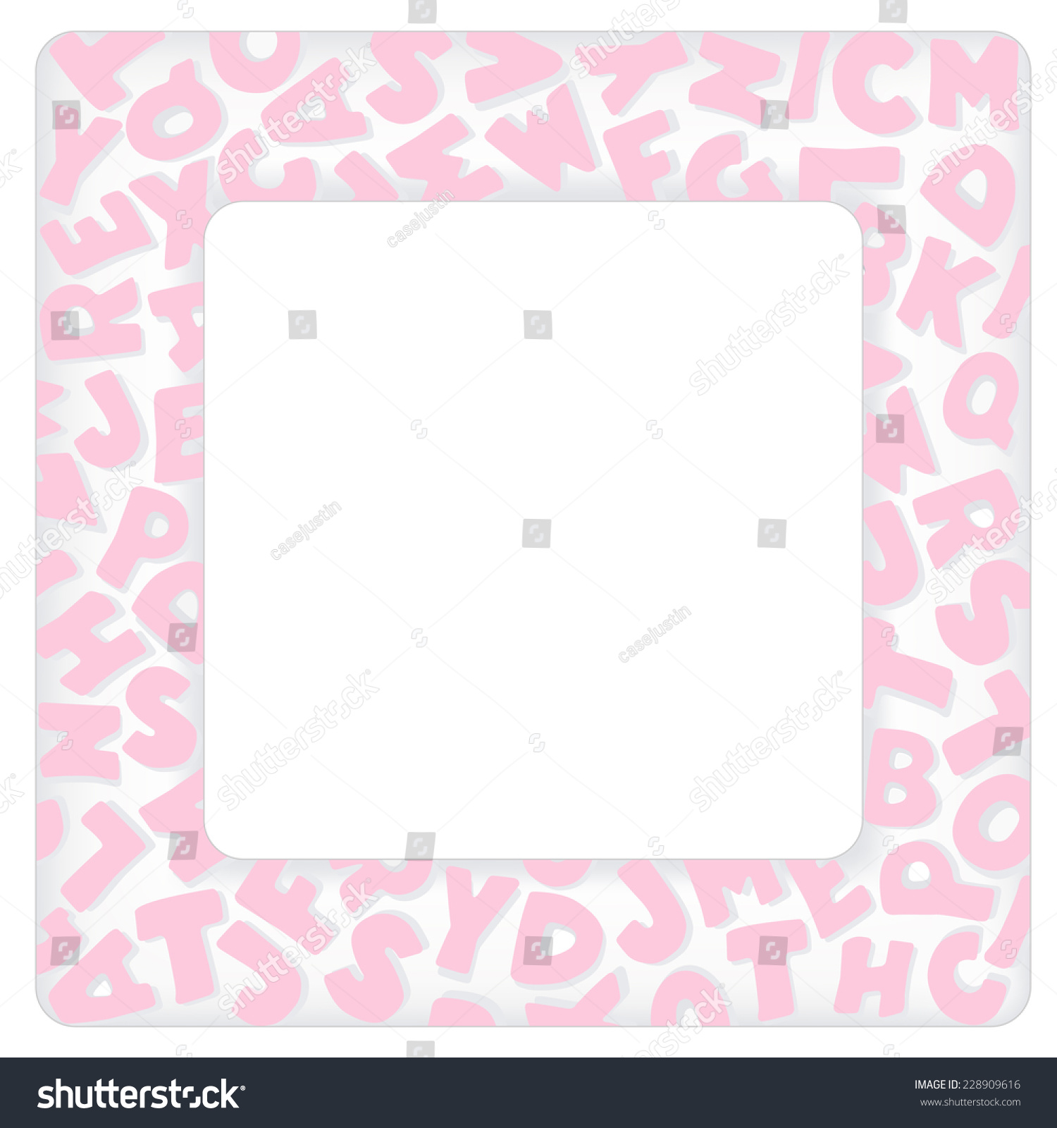Alphabet frame square pastel pink letter vectores en stock 228909616 alphabet frame square pastel pink letter border with copy space for baby books albums solutioingenieria Images