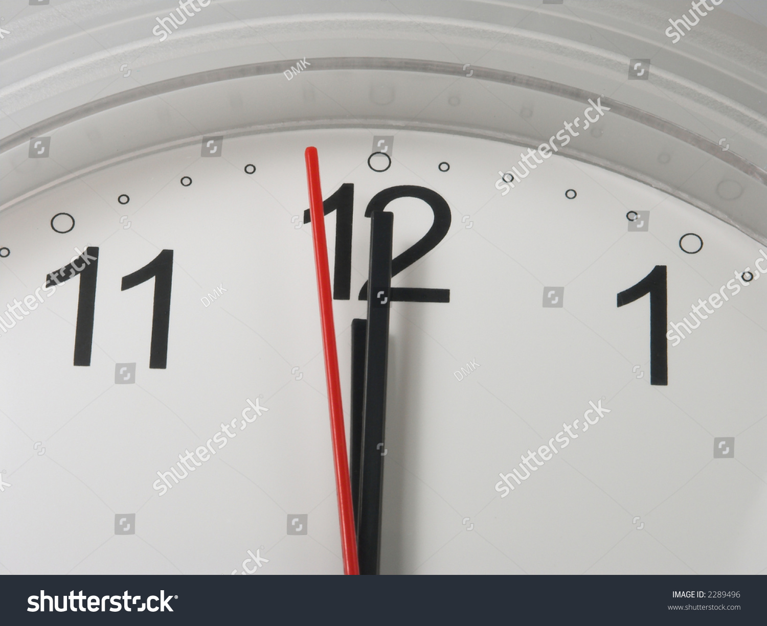 Clock minute hour hands on 12 stock photo 2289496 shutterstock clock with a minute and hour hands on 12 and a second hand on 59 amipublicfo Image collections