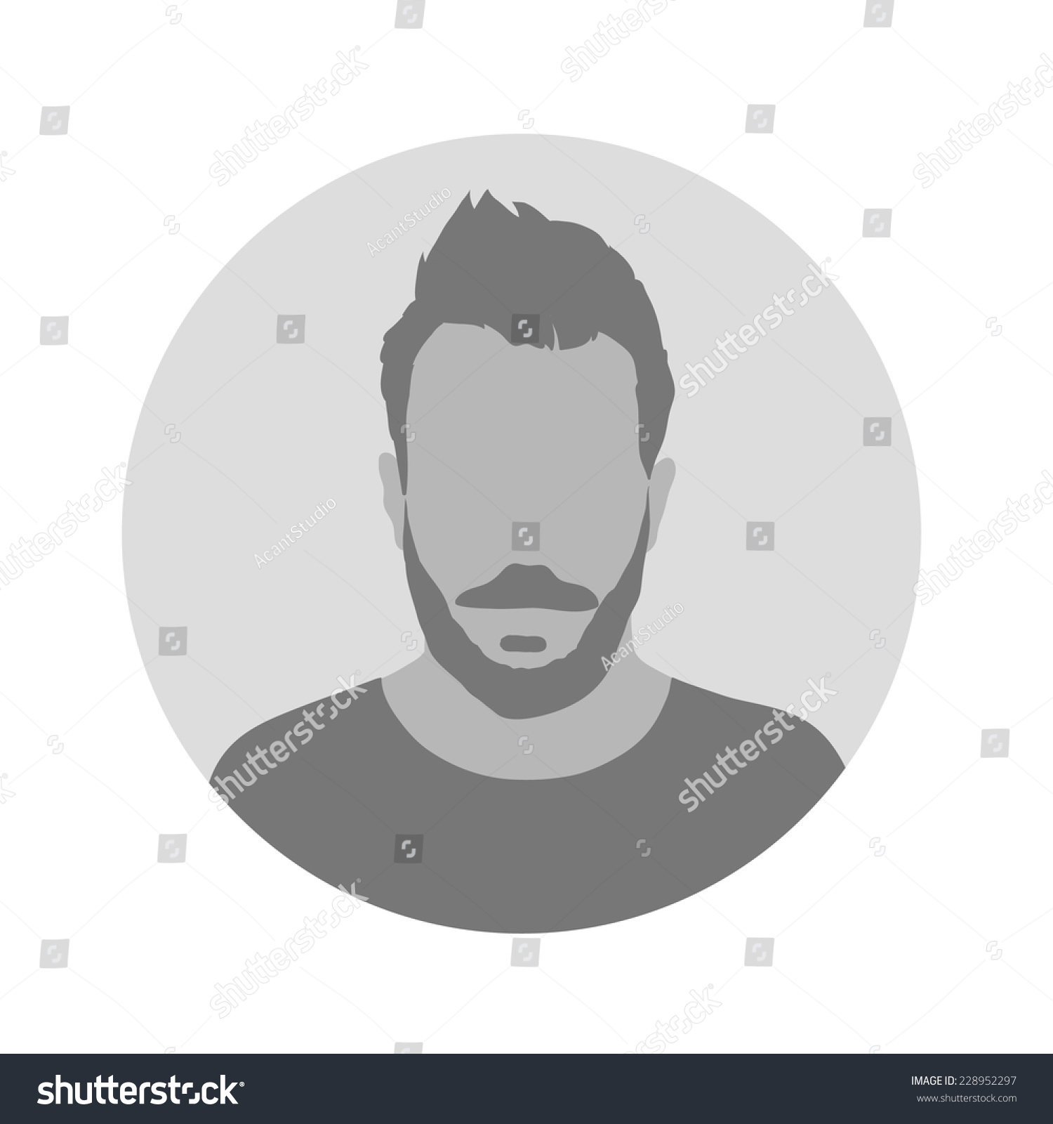 Male Profile Picture Placeholder … Stock Photo 228952297