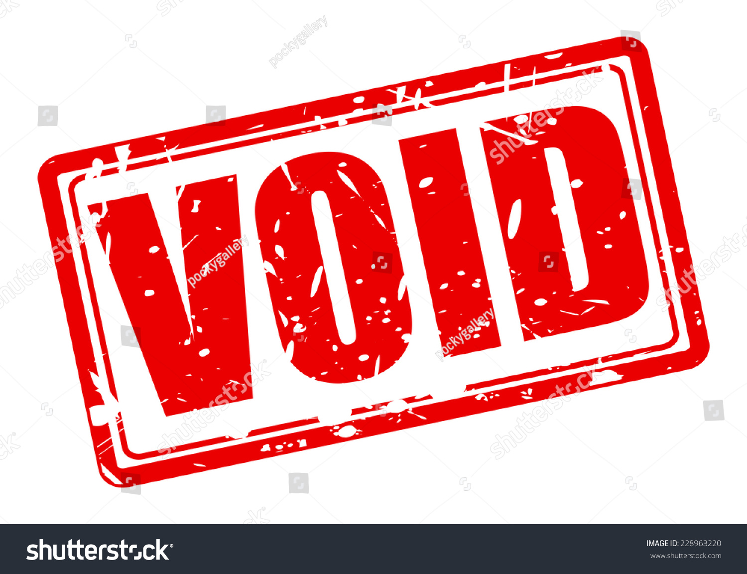 Void Red Stamp Text On White Stock Vector 228963220 ...