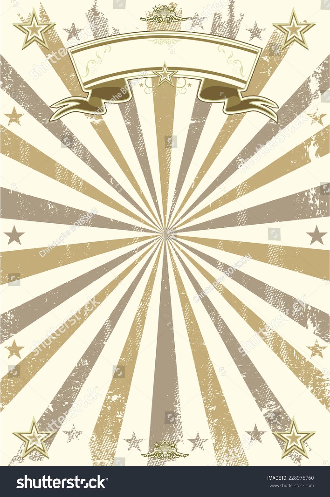 kraft brown vintage paper retro circus stock vector (royalty free