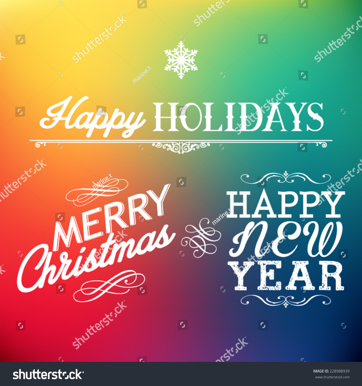 Seasons greetings happy holidays typography design stock vector seasons greetings happy holidays typography design m4hsunfo