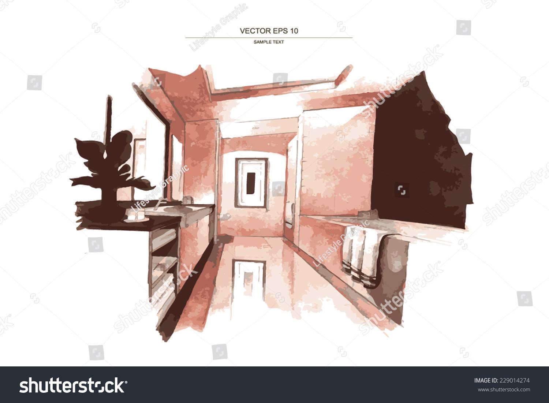 bathroom interior design sketches