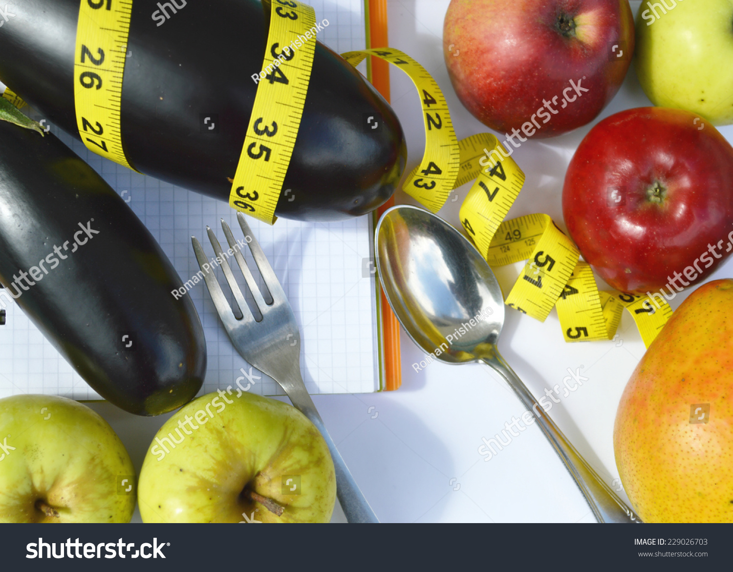 Astounding Vegetables Fruits Weight Loss Measuring Tape Stock Photo Download Free Architecture Designs Scobabritishbridgeorg
