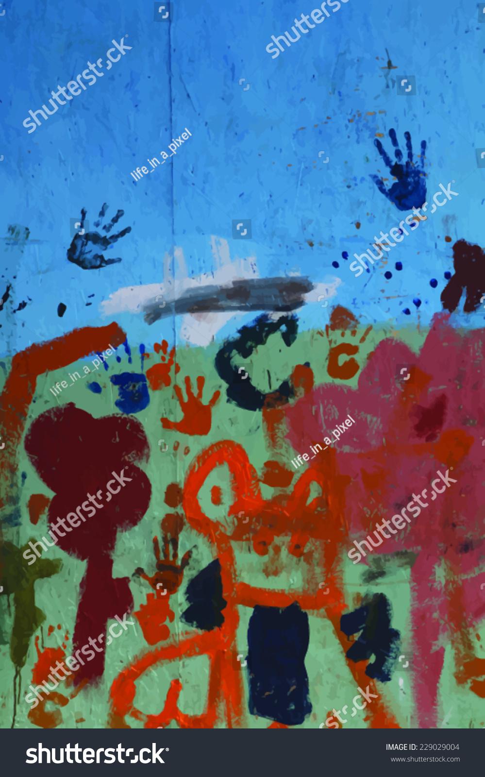 Graffiti wall vector free - Graffiti Wall Vector Background