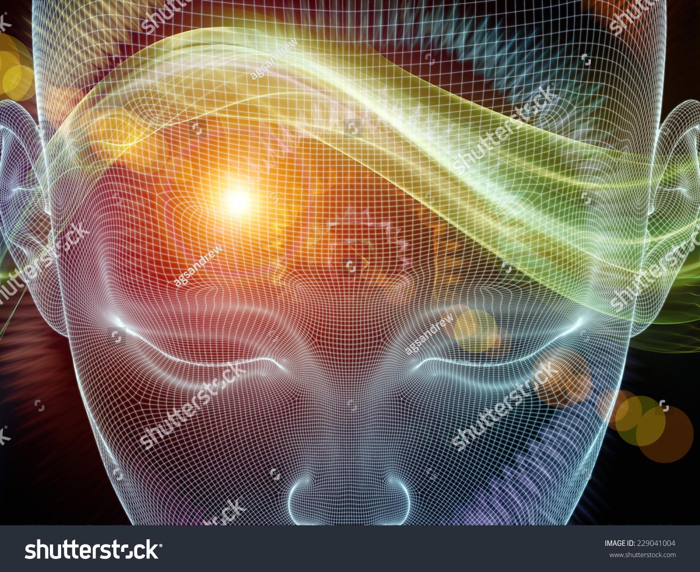 Frame Mind Series Backdrop Human Face Stock Illustration 229041004 ...