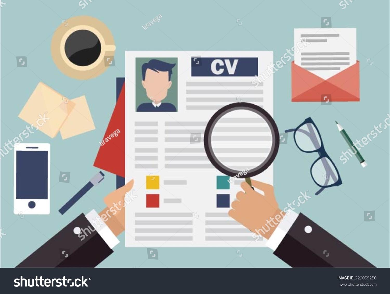 Job Interview Concept Business Cv Resume Stock Vector