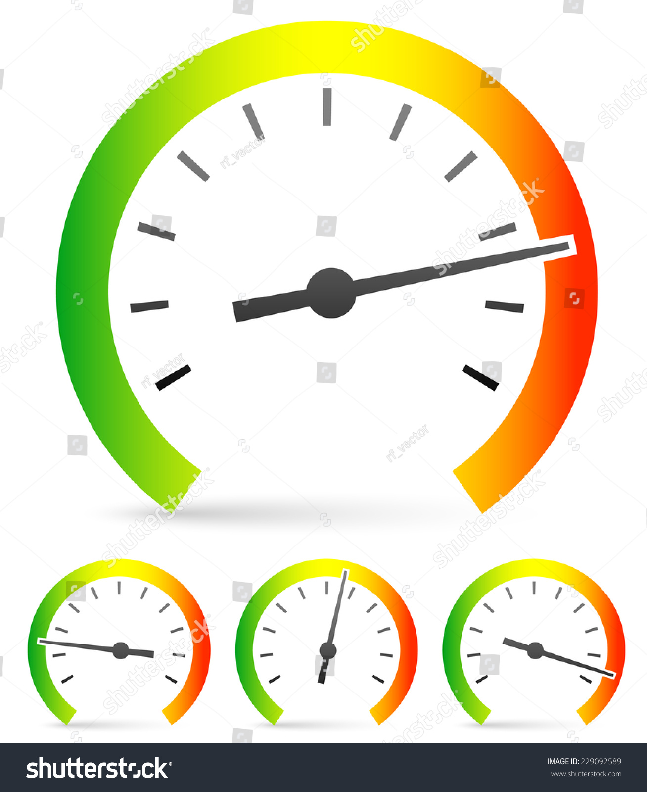 Speedometer General Gauge Dial Template Measuring Stock