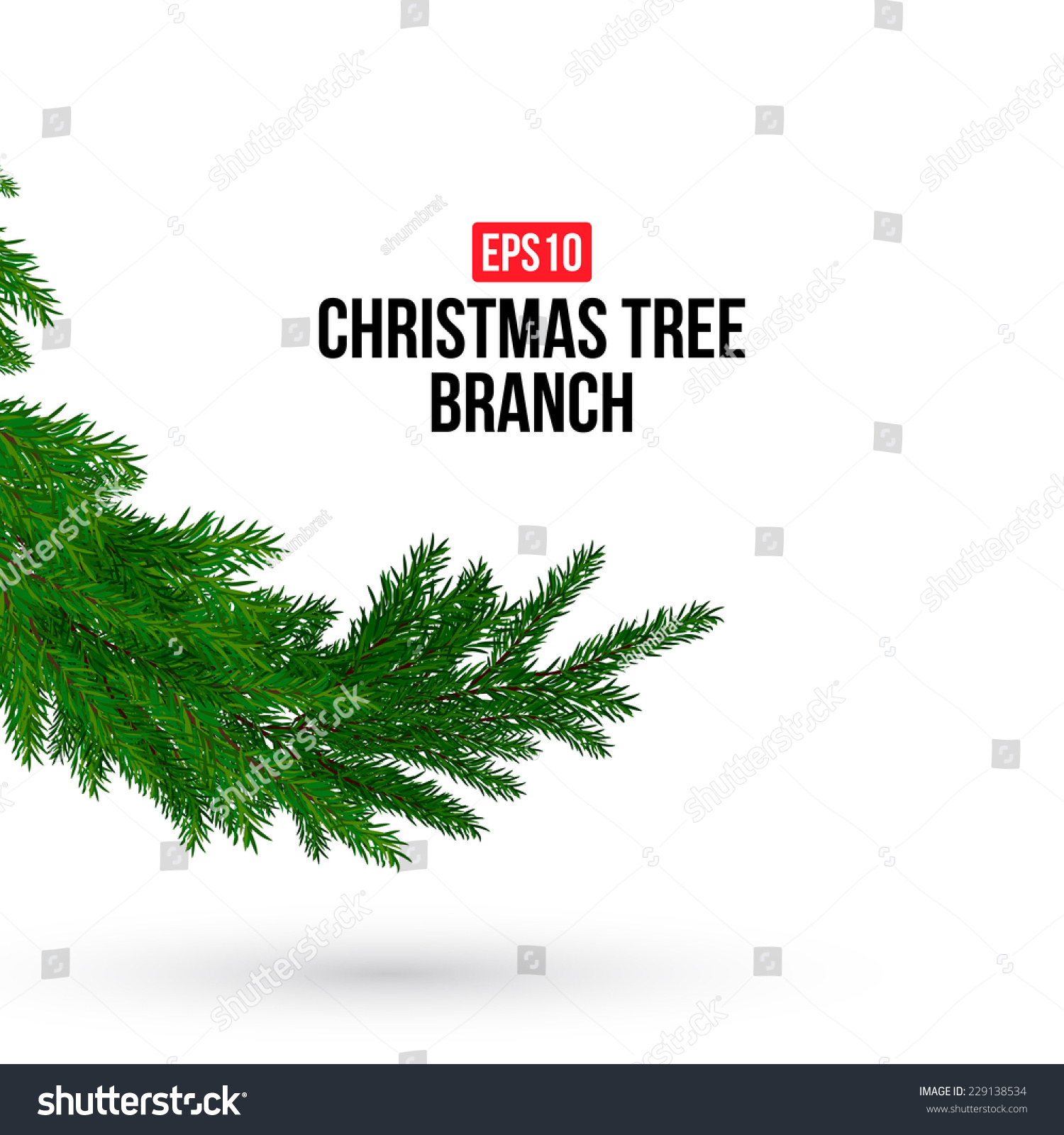 christmas tree branch vector - photo #23