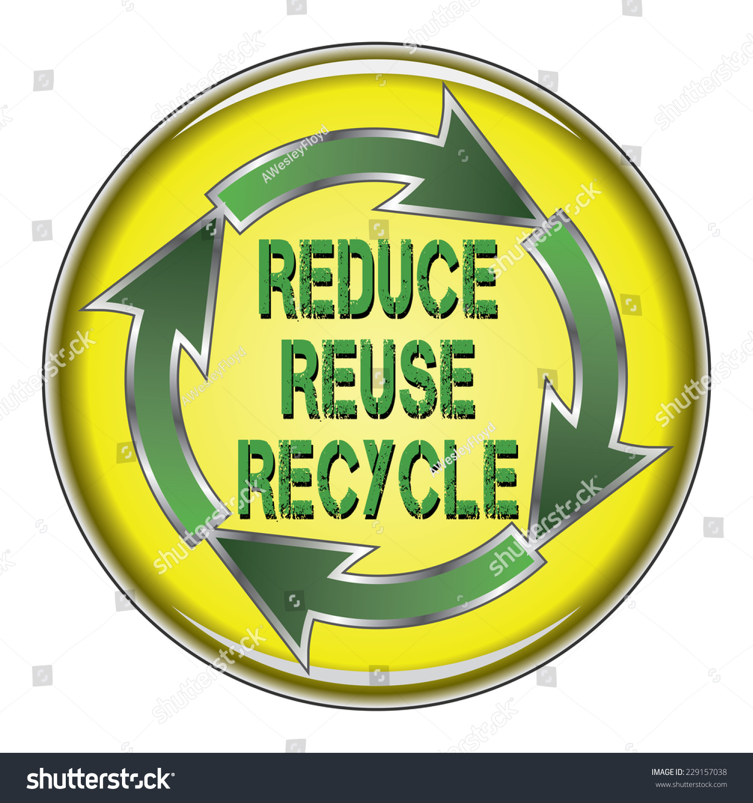 Reduce Reuse Recycle Illustration Recycle Symbol Stock Illustration