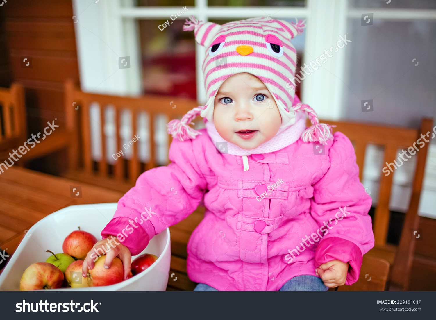 Very Cute Baby Pink Jacket Keeps Stock Photo Edit Now 229181047