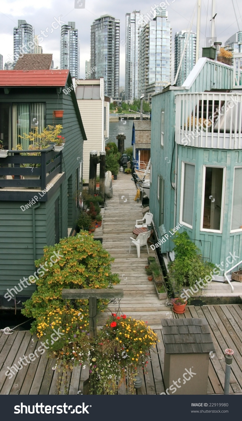Vancouver Bc September 5 Floating Homes Stock Photo