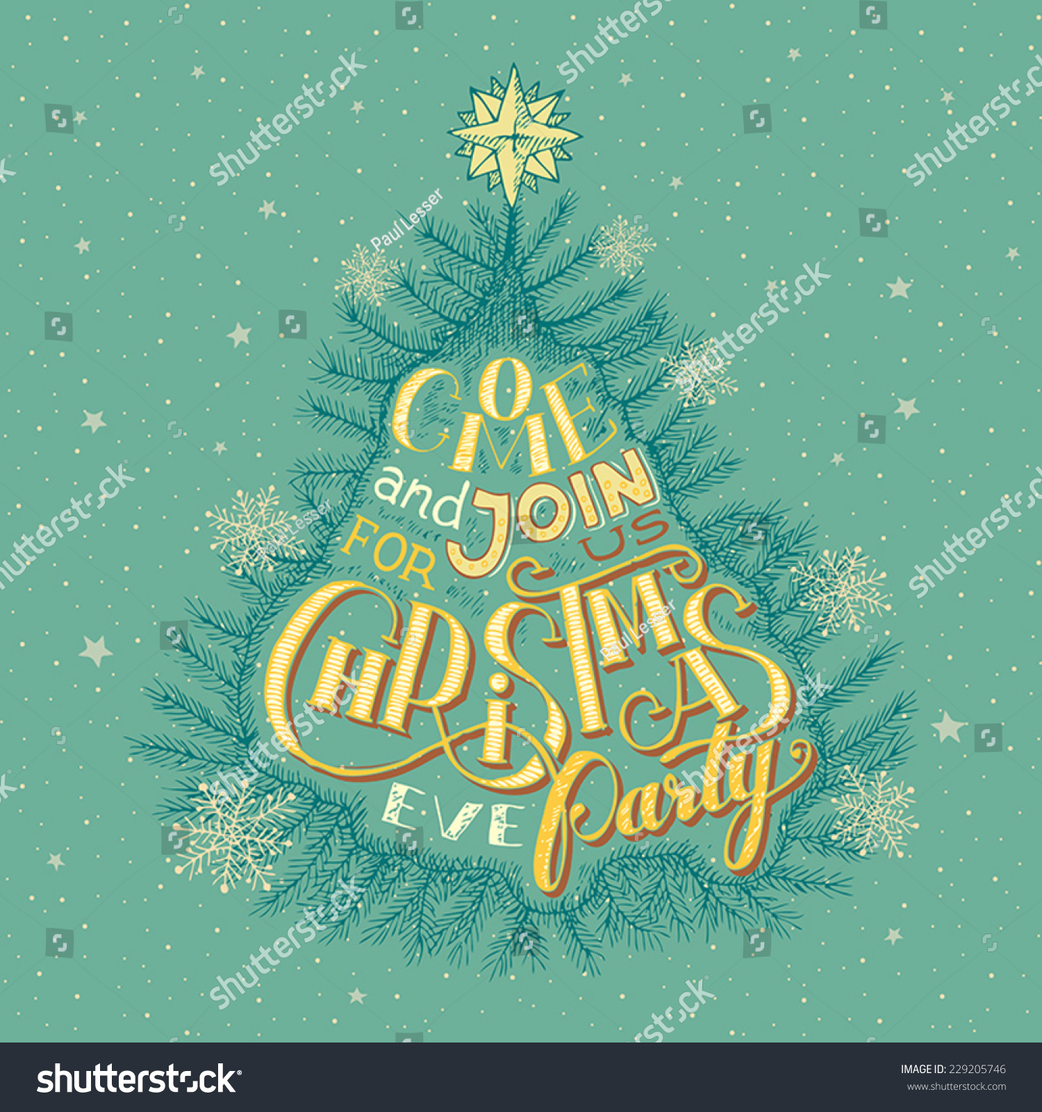 royalty vintage christmas eve party invitation  vintage christmas eve party invitation hand lettering 229205746