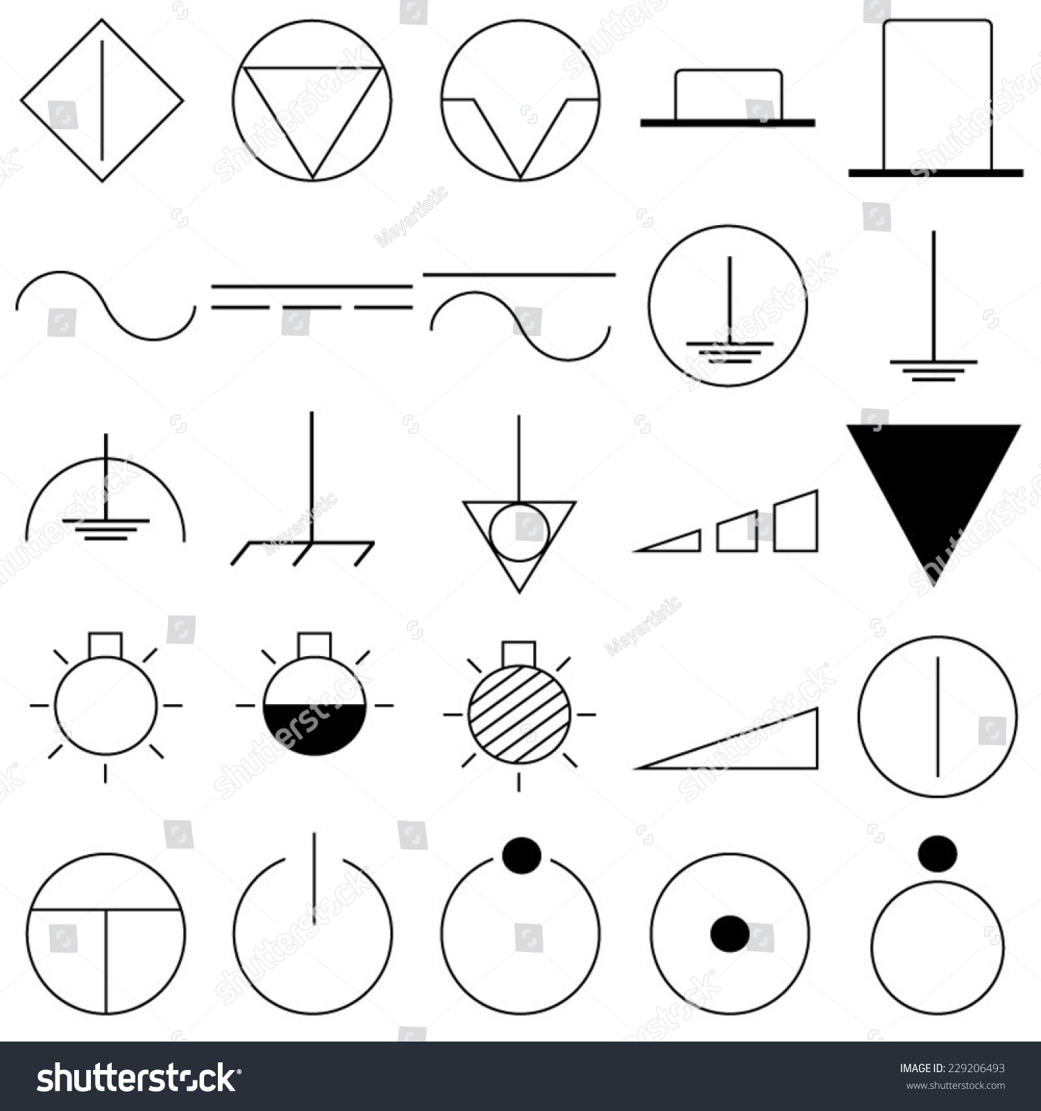 Electrical Symbols Icons Stock Photo (Photo, Vector, Illustration ...