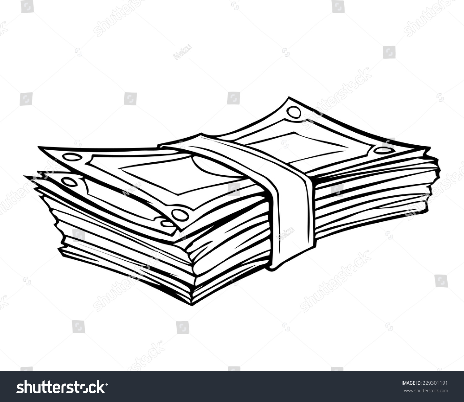 It is a photo of Trust Stacks Of Money Drawing