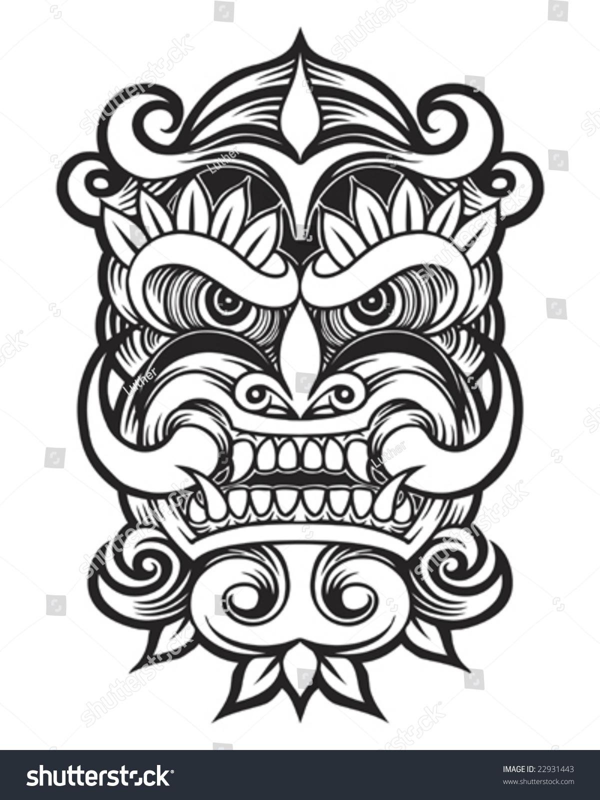 10ceef48ff25c Tattoo devil mask Stock Photo 22931443 - Avopix.com