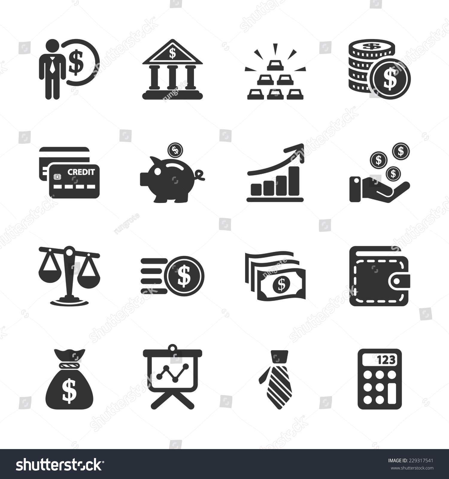 Finance Icon Set: Finance Icon Set Vector Eps10 Stock Vector 229317541