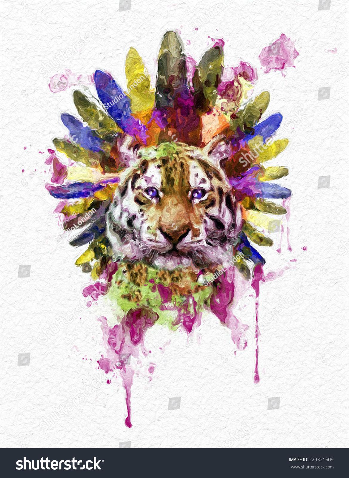 Shirt design resolution - Illustration Tiger T Shirt Graphics Tiger Poster Artistic Tiger High