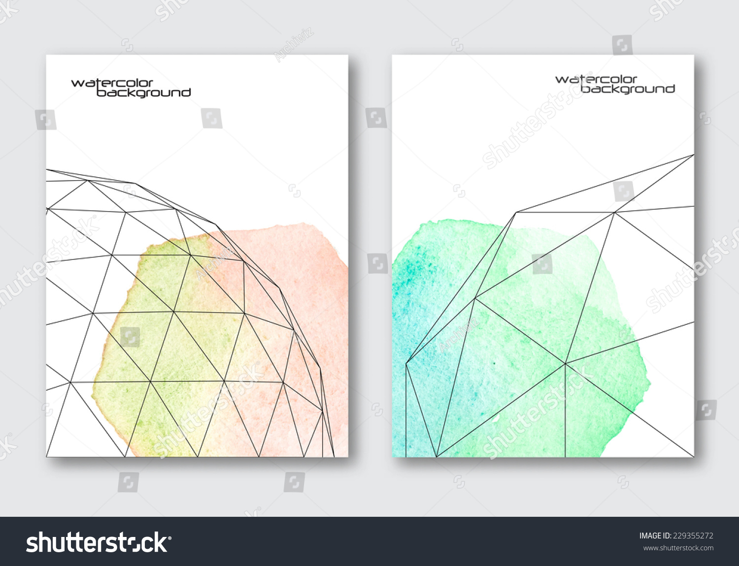Vector Poster Templates Set Hand Drawn Stock Vector Royalty Free