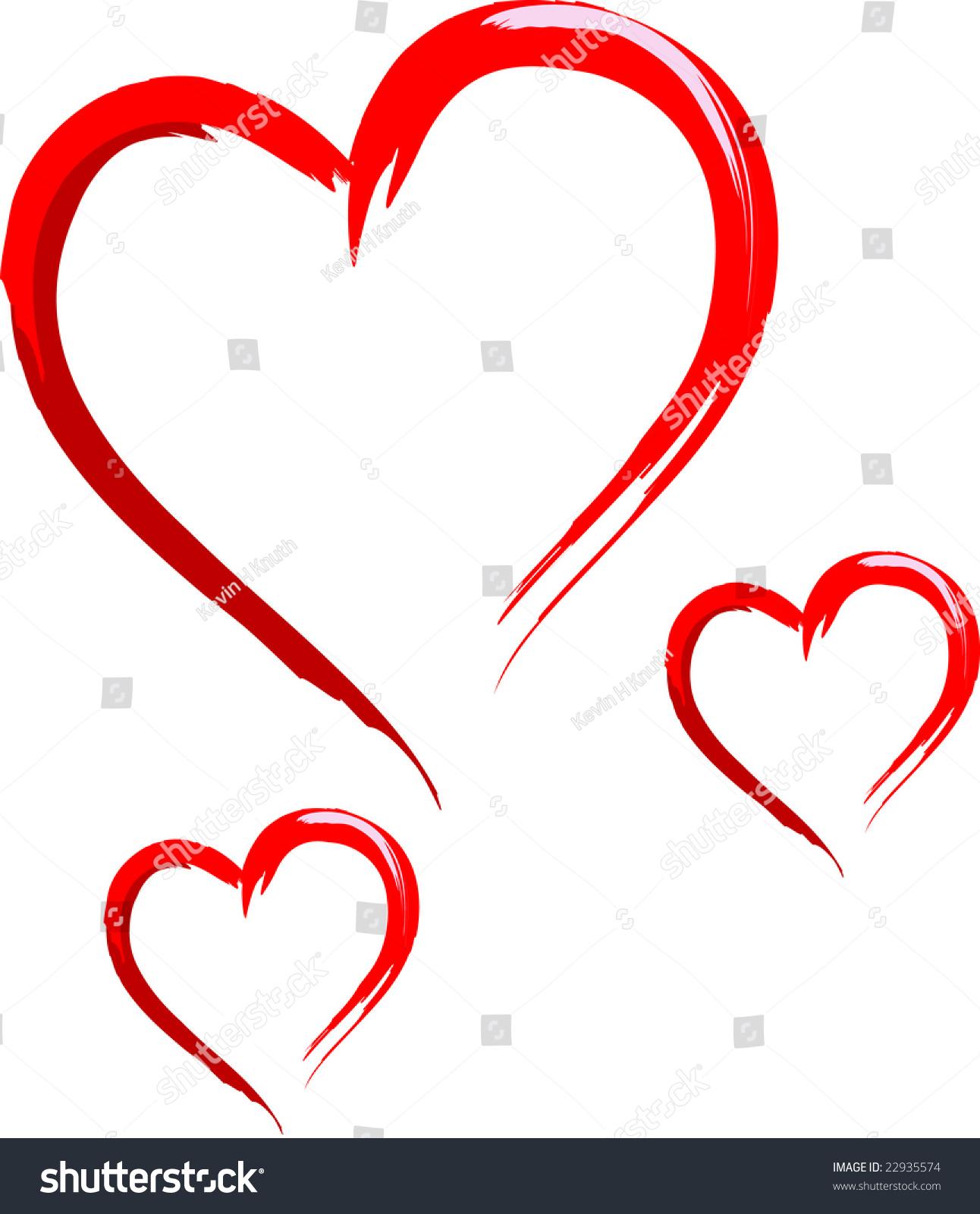 Three sketched hearts stock vector 22935574 shutterstock three sketched hearts buycottarizona