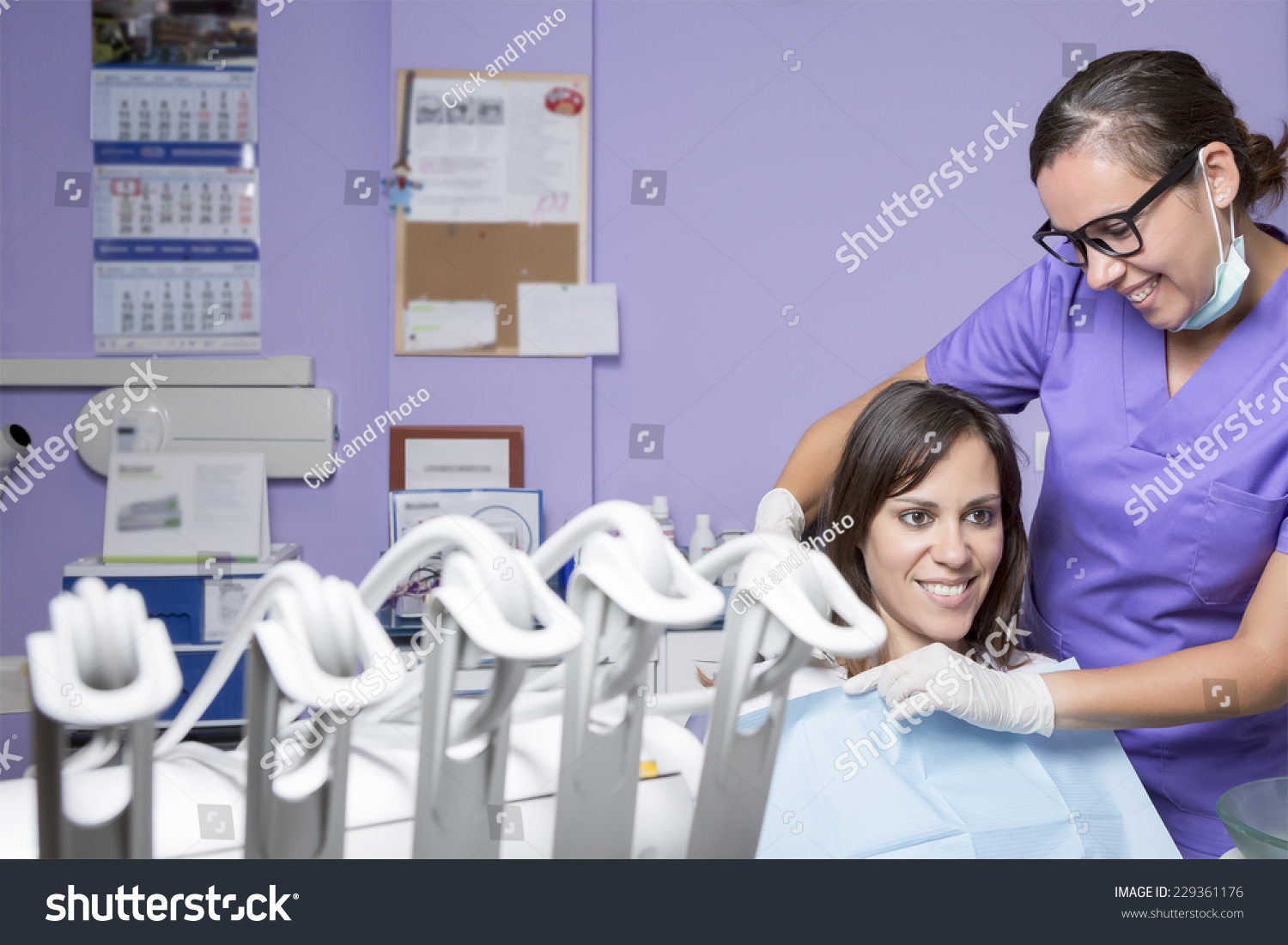 Young Female Dental Clinic Assistant Smiling Stock Photo 229361176 ...
