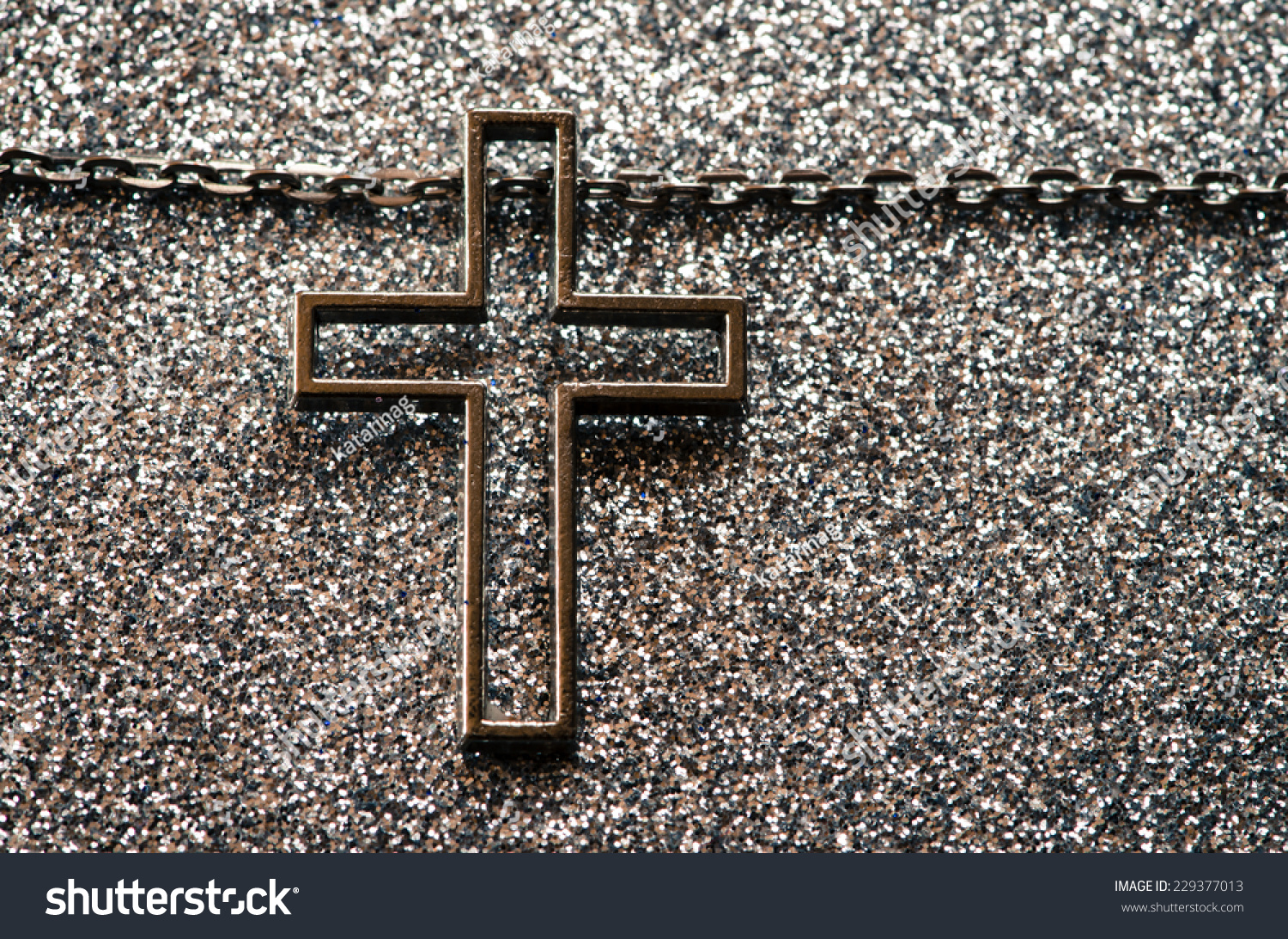 Silver Cross Symbol On Silver Background Stock Photo Edit Now