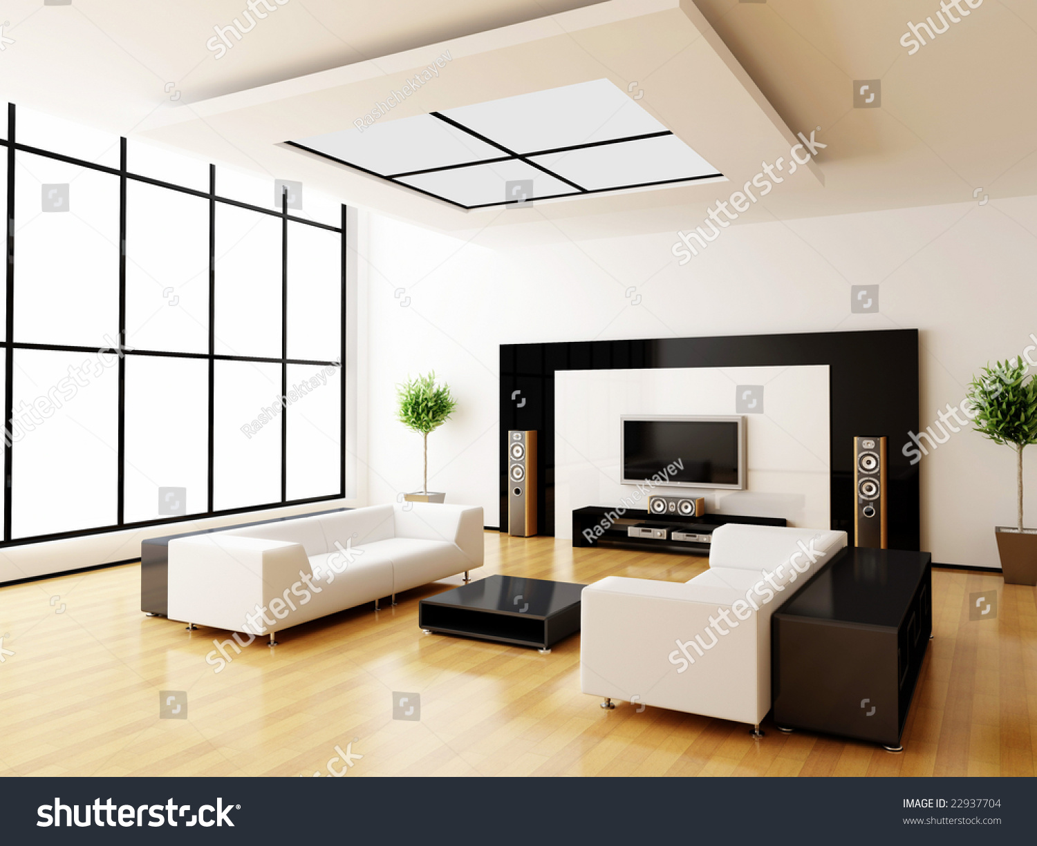 Royalty Free Stock Illustration Of Modern Home Interior 3 D