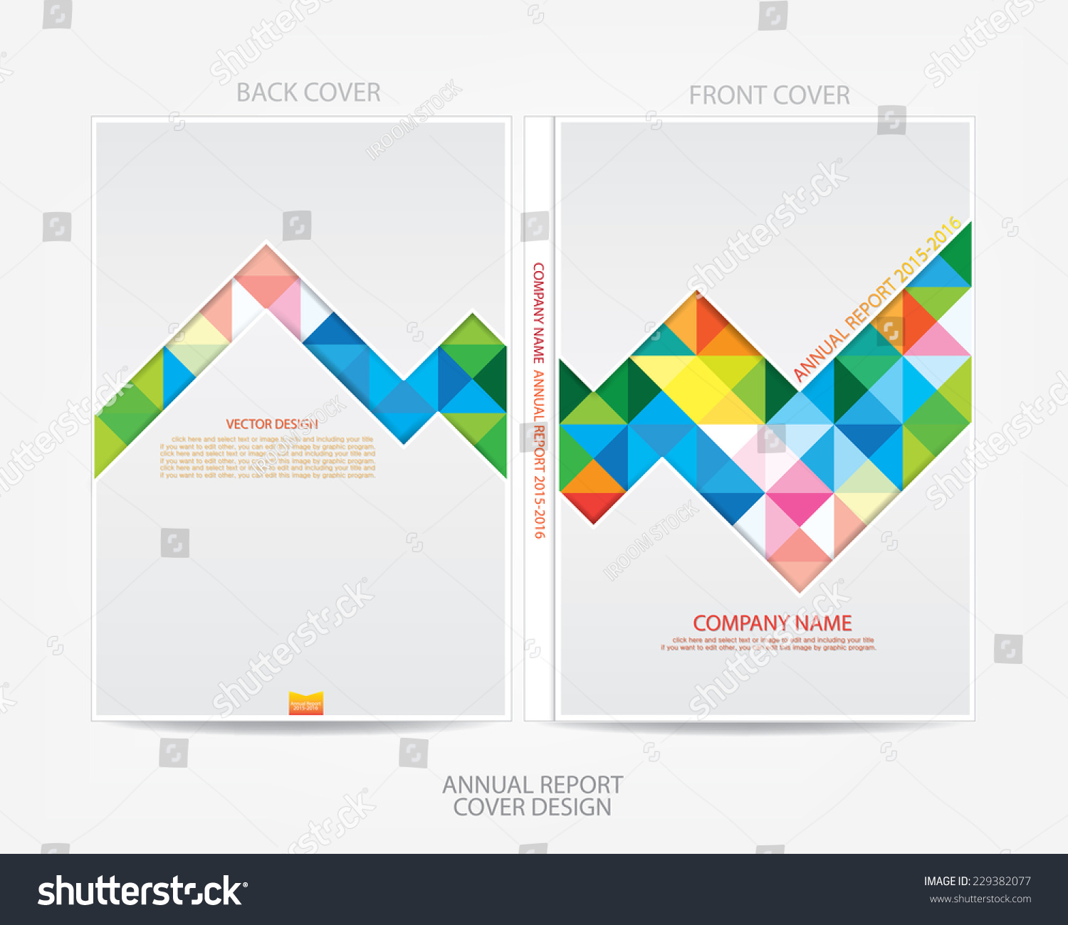annual report cover design stock vector 229382077 shutterstock annual report cover design