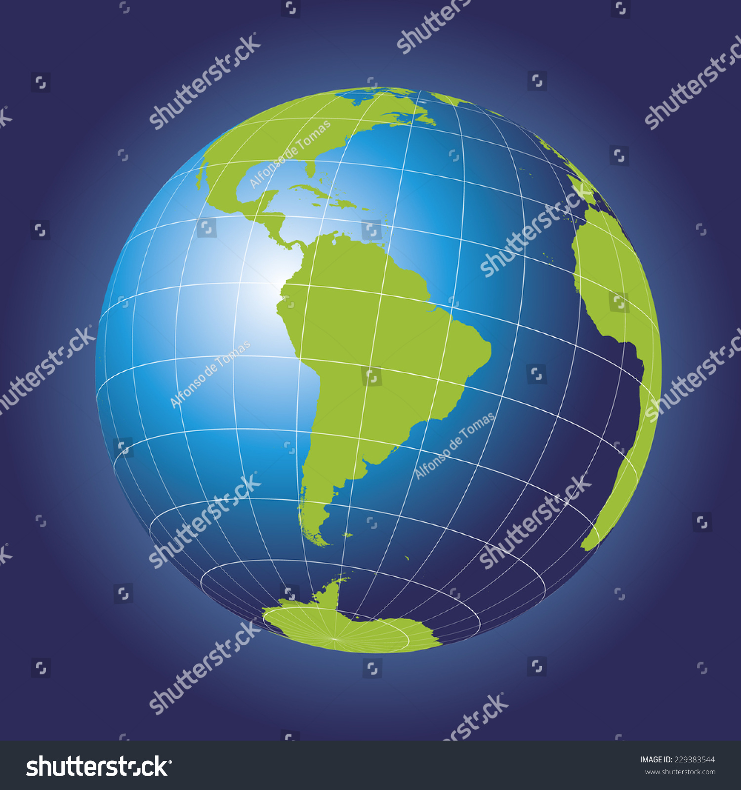 South America Map Antarctica North America Stock Vector 229383544 ...