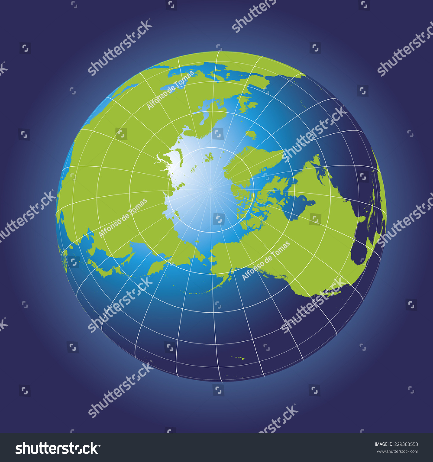 North pole map europe greenland asia stock vector royalty free north pole map europe greenland asia america russia earth globe gumiabroncs Images