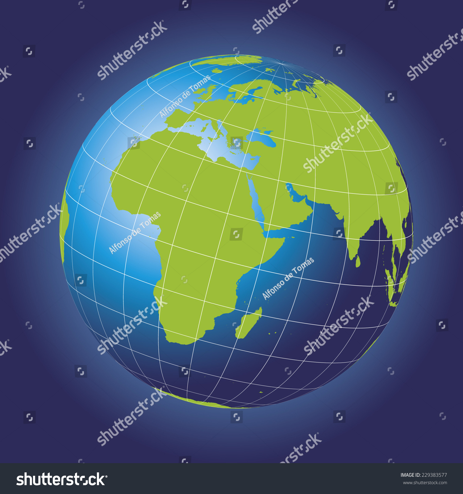 Europe map europe africa russia asia stock vector royalty free europe map europe africa russia asia north pole greenland gumiabroncs Images