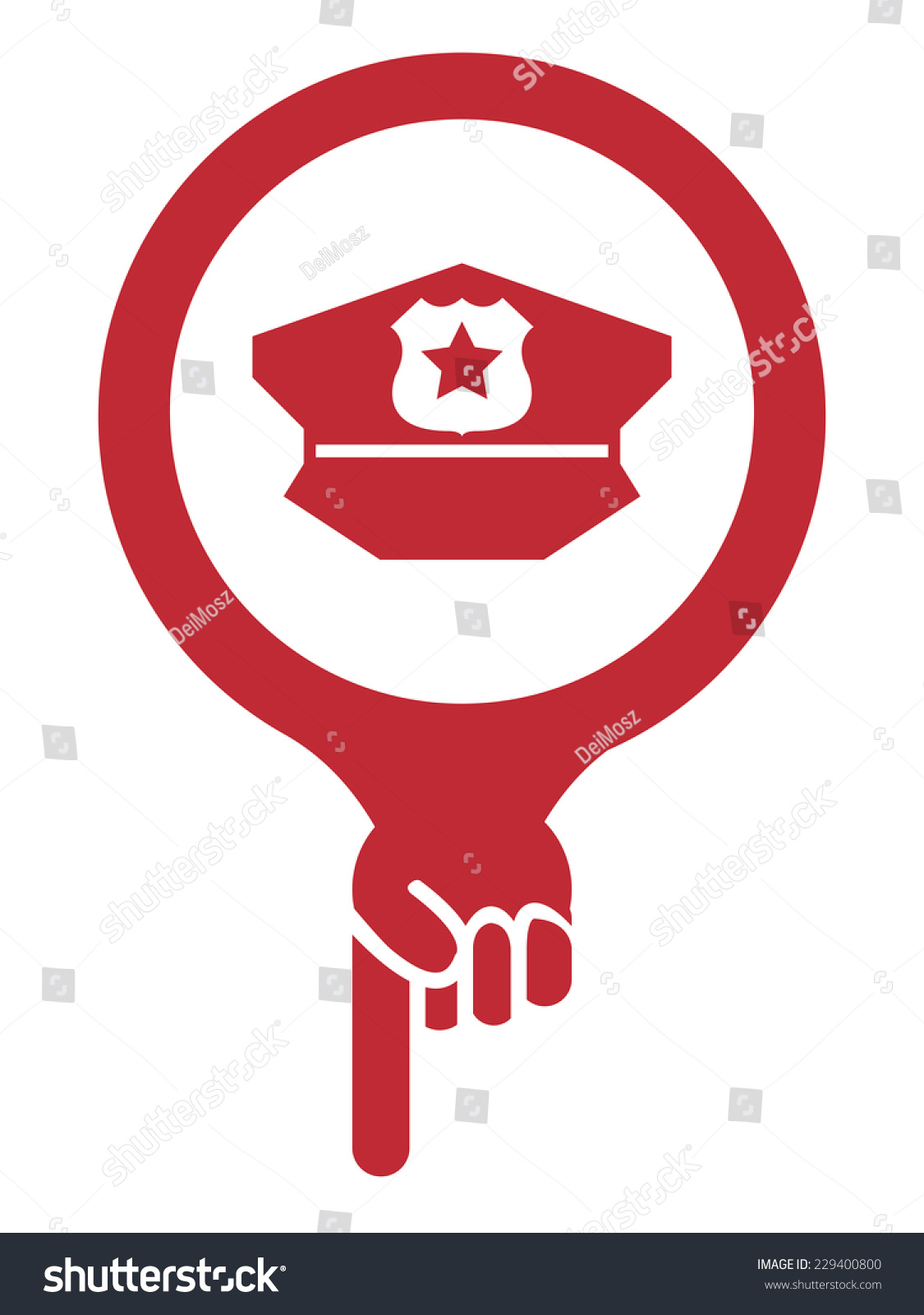 Red Map Pointer Icon Police Station Stock Illustration 229400800