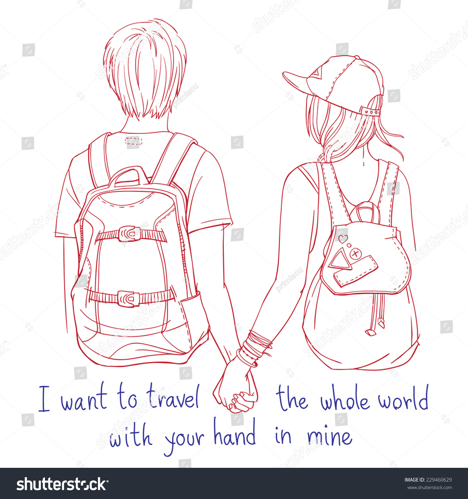 Line Drawing Couple : Vector line art illustration young couple stock