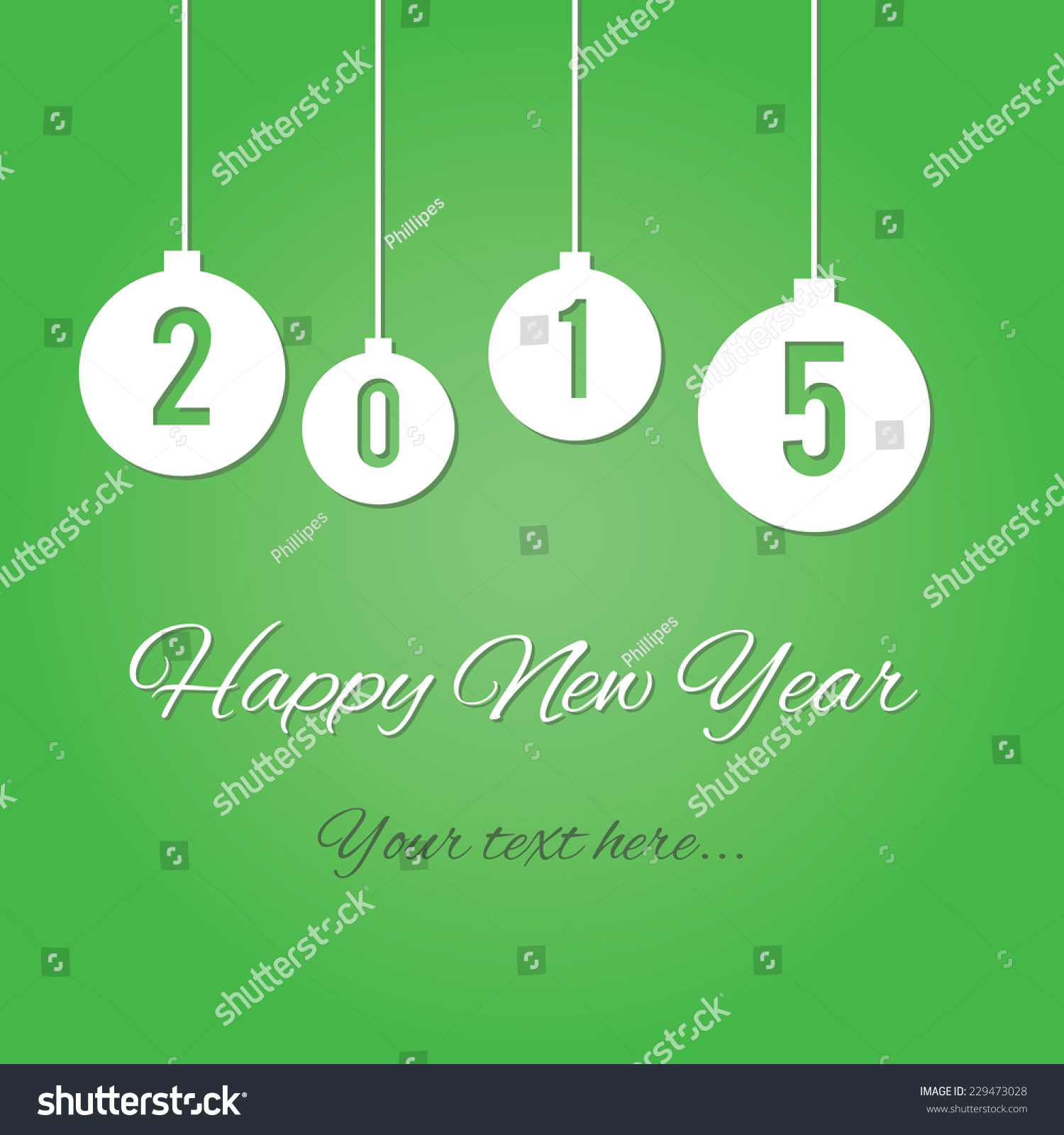 New Year Card Emailing Business Friends Stock Vector 229473028