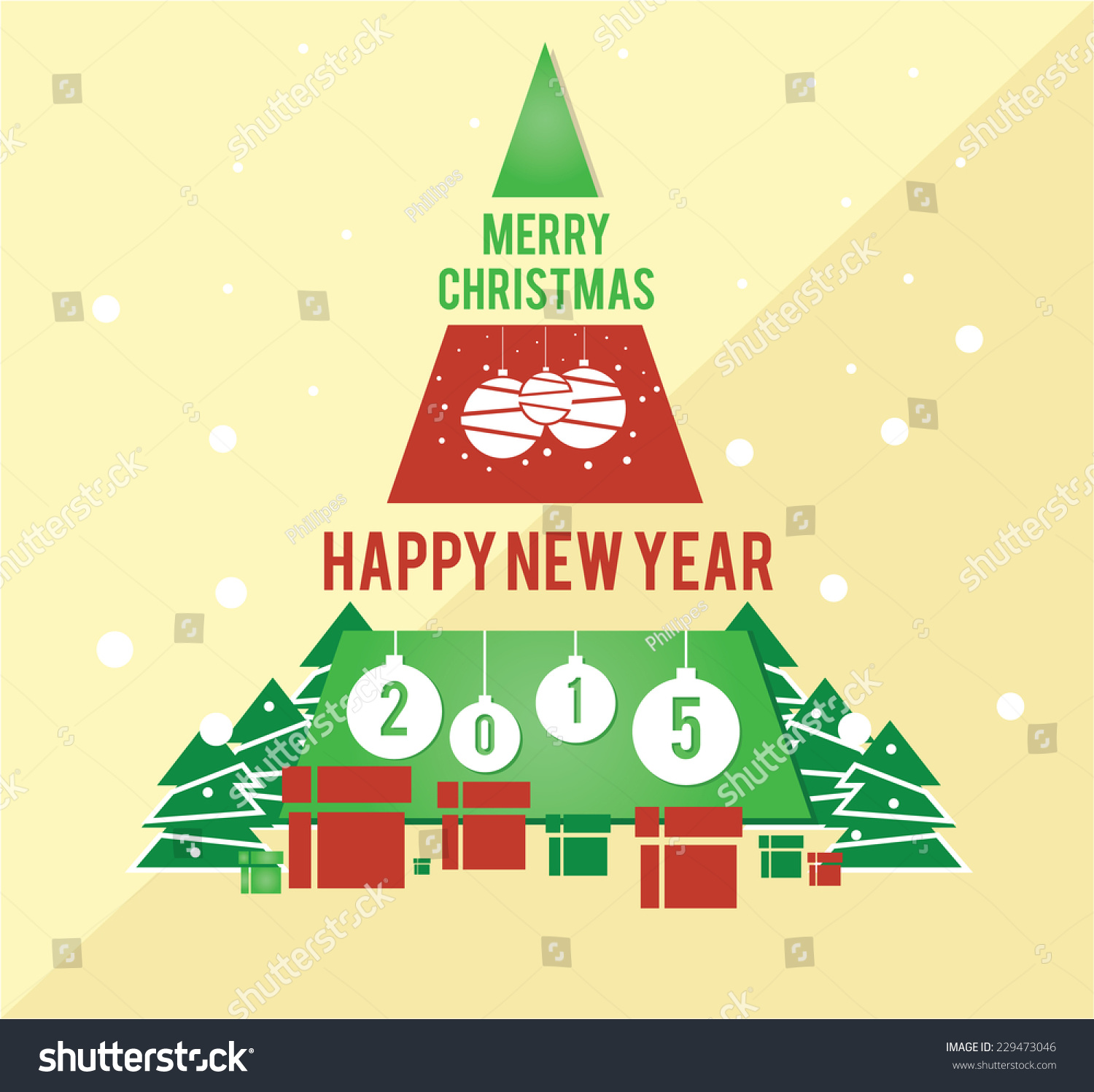 Christmas Card Family Friends Business Management Stock Vector ...