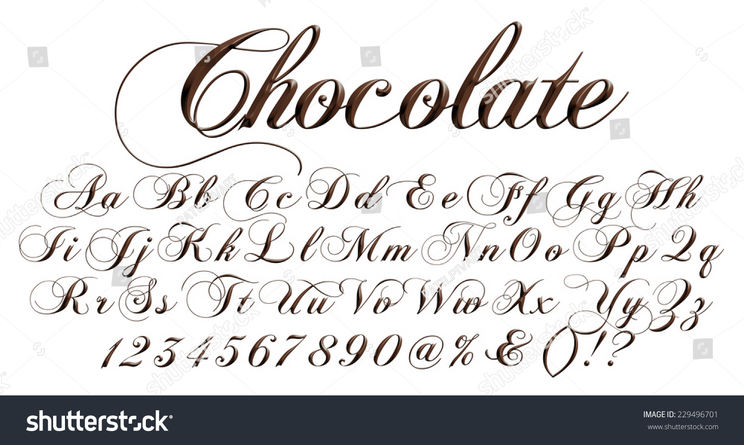 Big Small Letters Alphabet Digits Made Stock Illustration