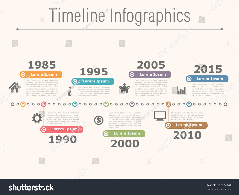 Timeline Infographics Design Template Vector Eps10 Stock