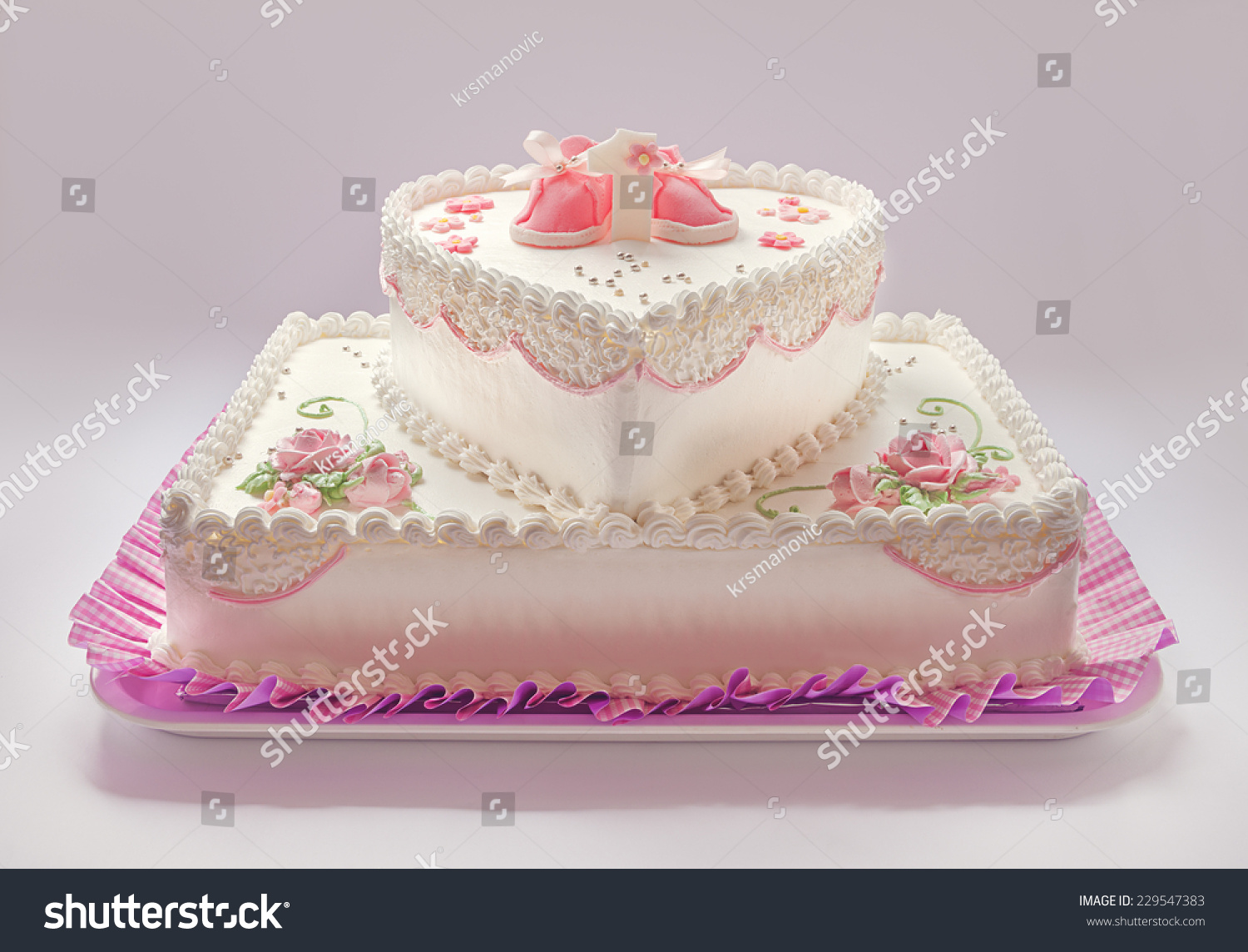 Details Of A Birthday Cake For Baby Girl Number One And Sweet Sugar