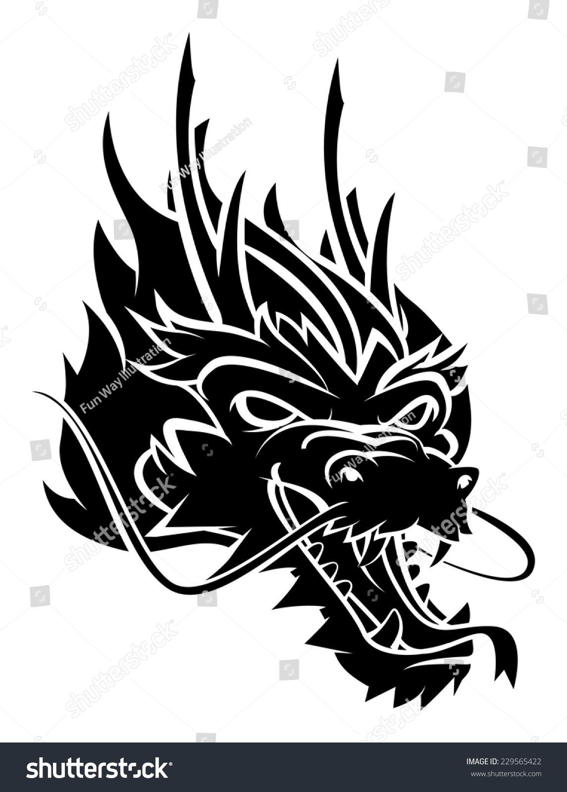 Dragon Head Stock Vector (Royalty Free) 229565422