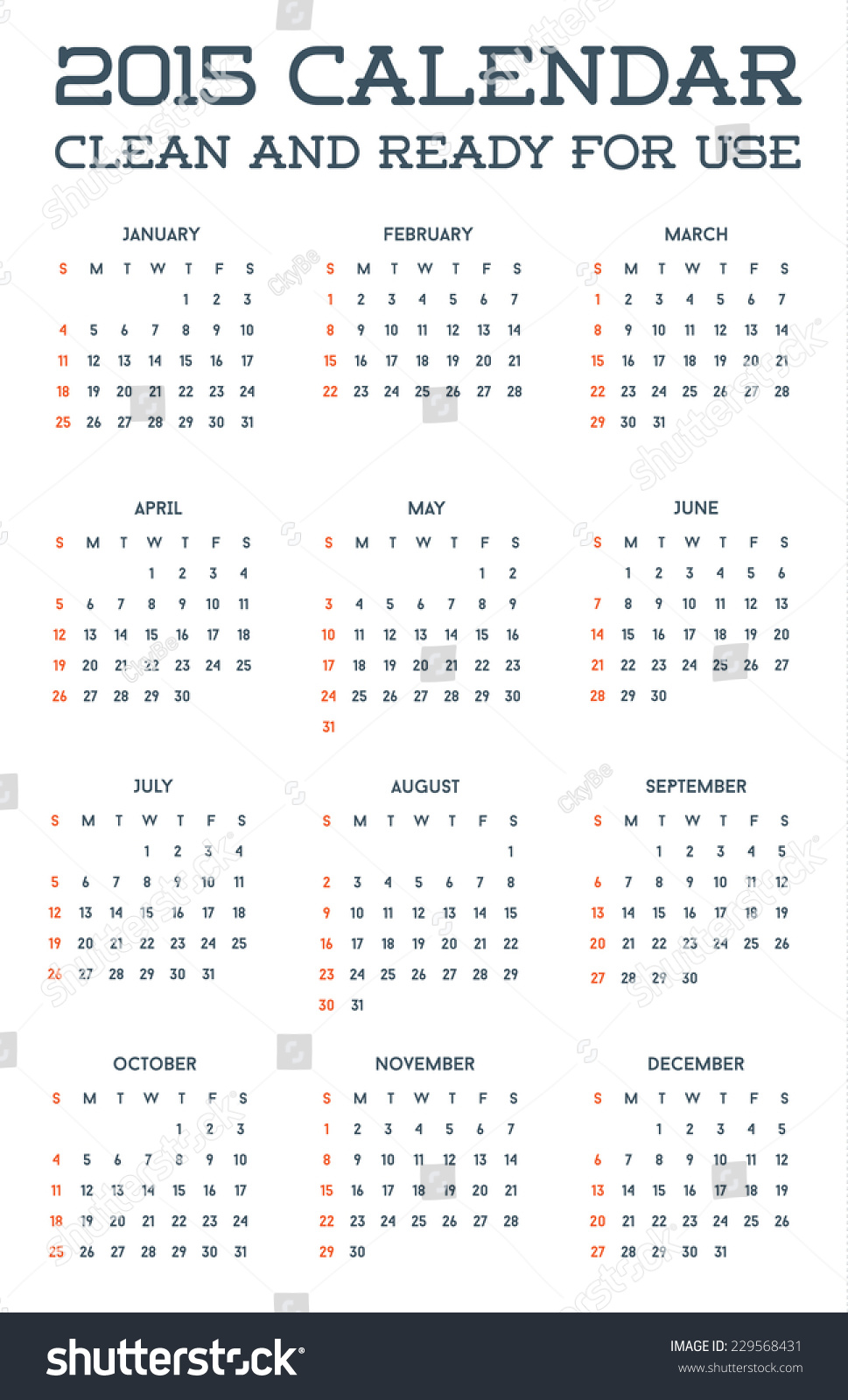 2015 clean calendar template mockup brochure stock vector royalty 2015 clean calendar template mockup brochure business simple and ready for use in vector friedricerecipe Gallery