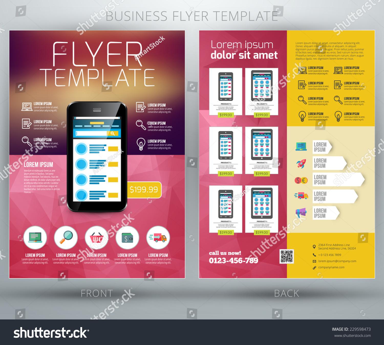 vector business flyer brochure design template stock vector royalty