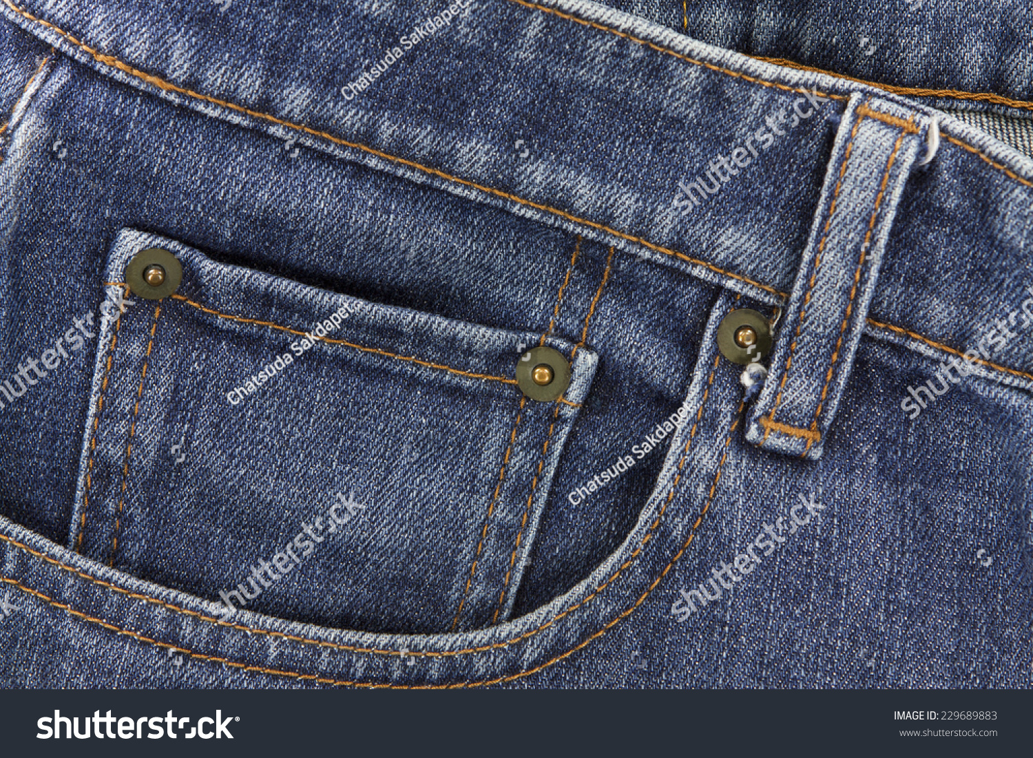Denim Pocket Closeup Show Texture Background Of Jeans And Pockets Stock Photo 229689883 ...