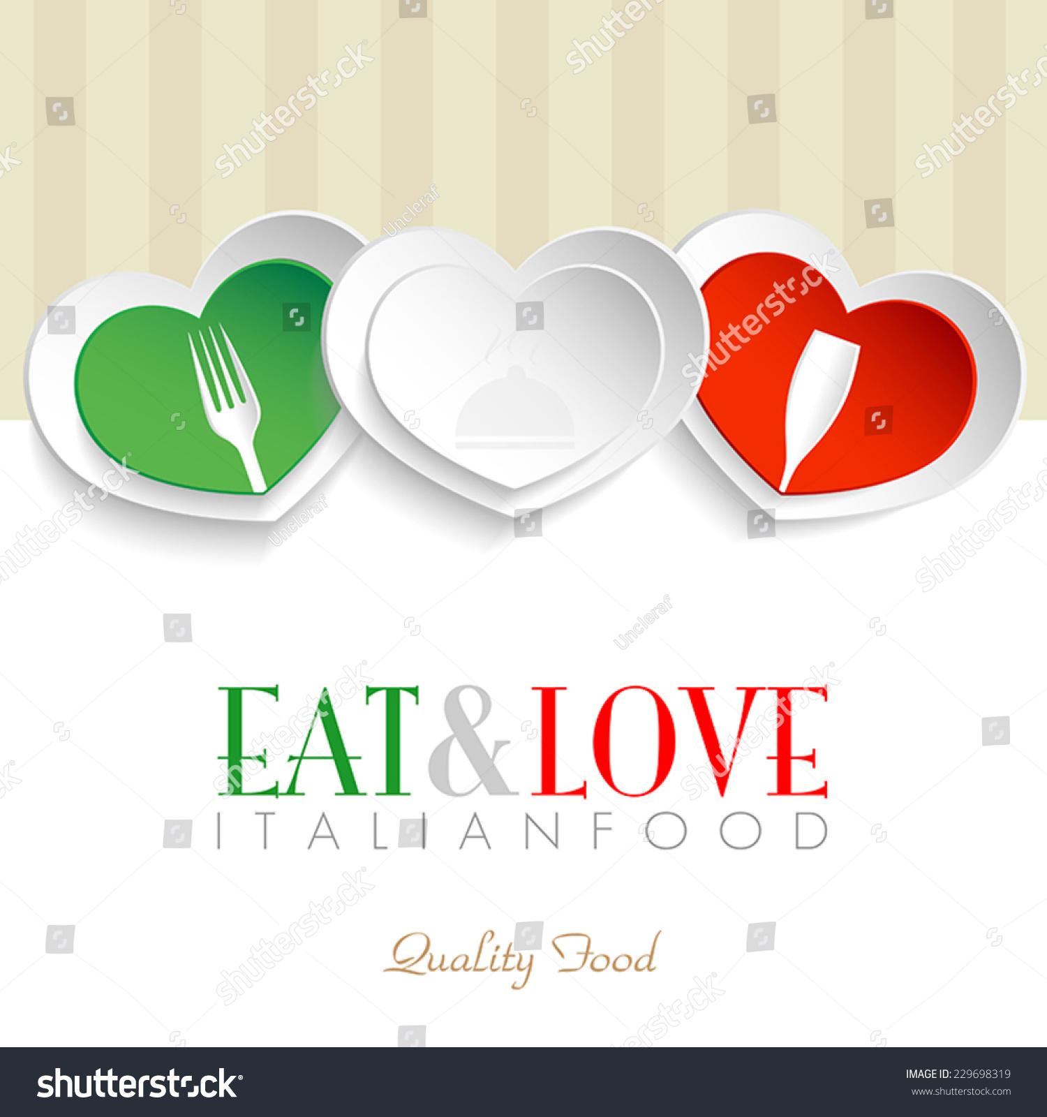 Vector De Stock Libre De Regalias Sobre Italian Restaurant Logo Italian Hearts Logo229698319