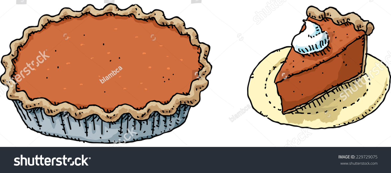 cartoon full pumpkin pie slice whipped stock photo photo vector rh shutterstock com cartoon pumpkin picture Pumpkin Pies Clip Art