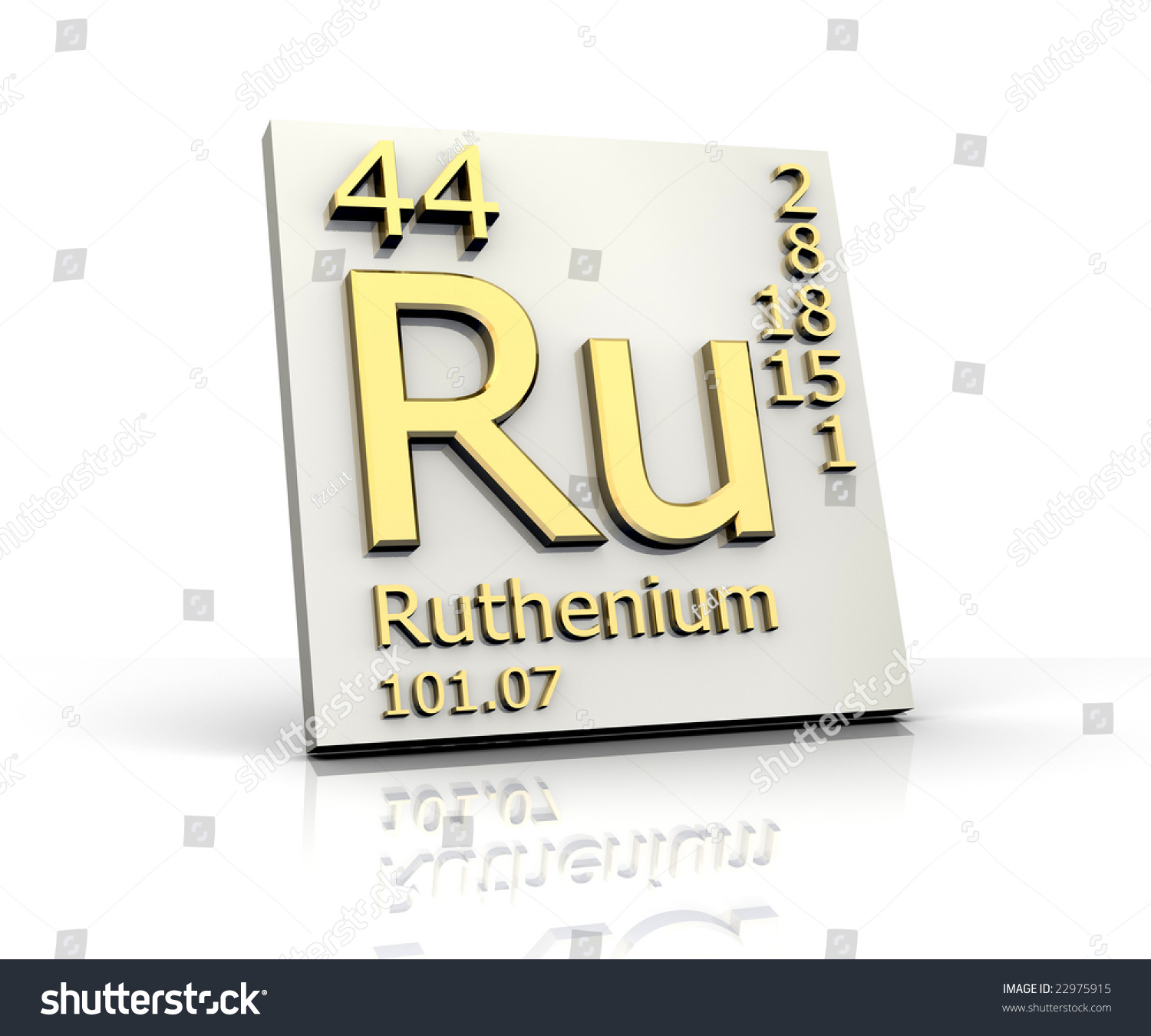 Ruthenium form periodic table elements stock illustration 22975915 ruthenium form periodic table of elements gamestrikefo Choice Image