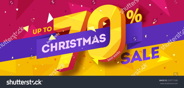 Christmas Sale Banner Vector Stock Vector 229771330 - Shutterstock