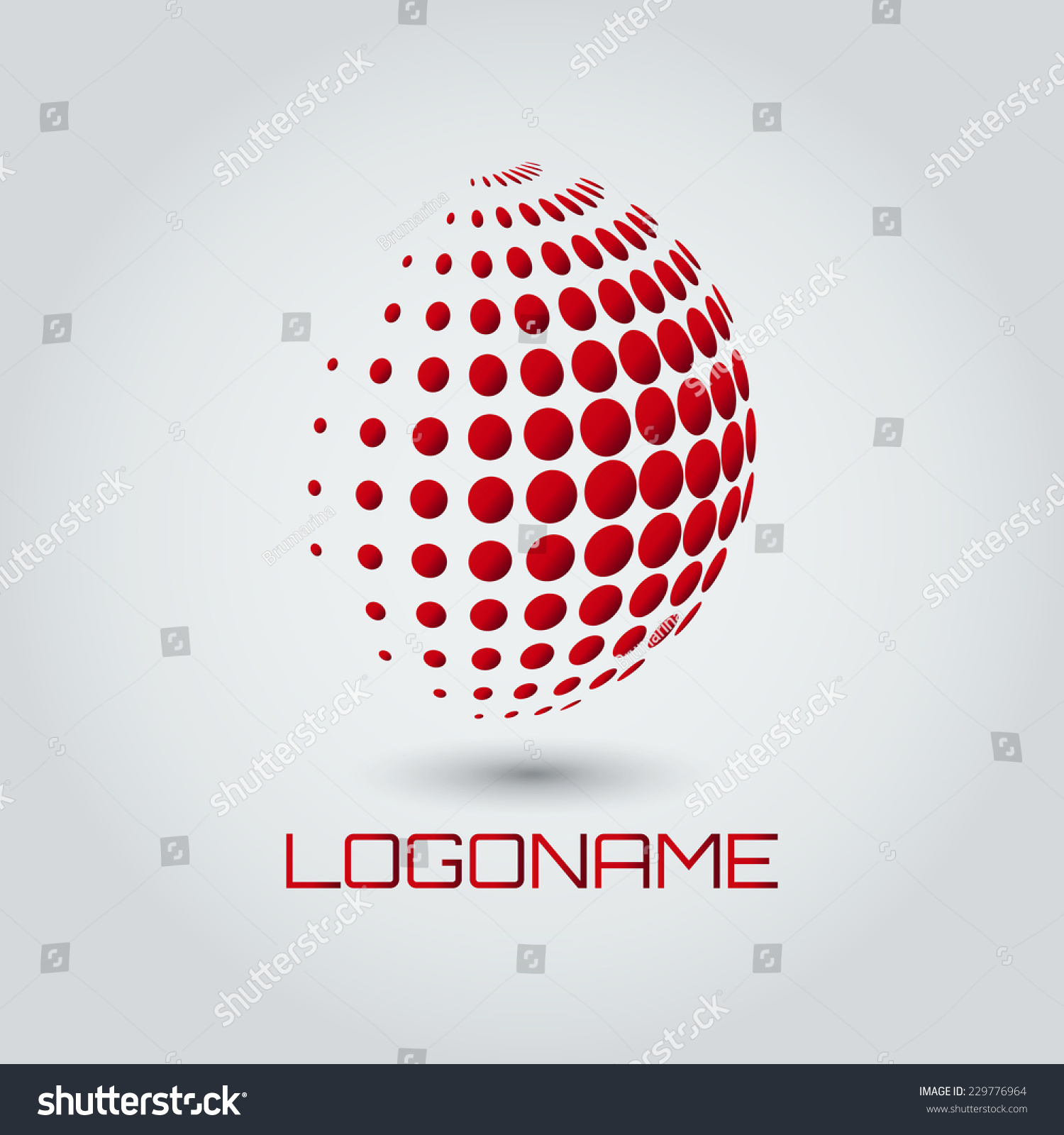 sphere abstract vector logo design template stock vector royalty
