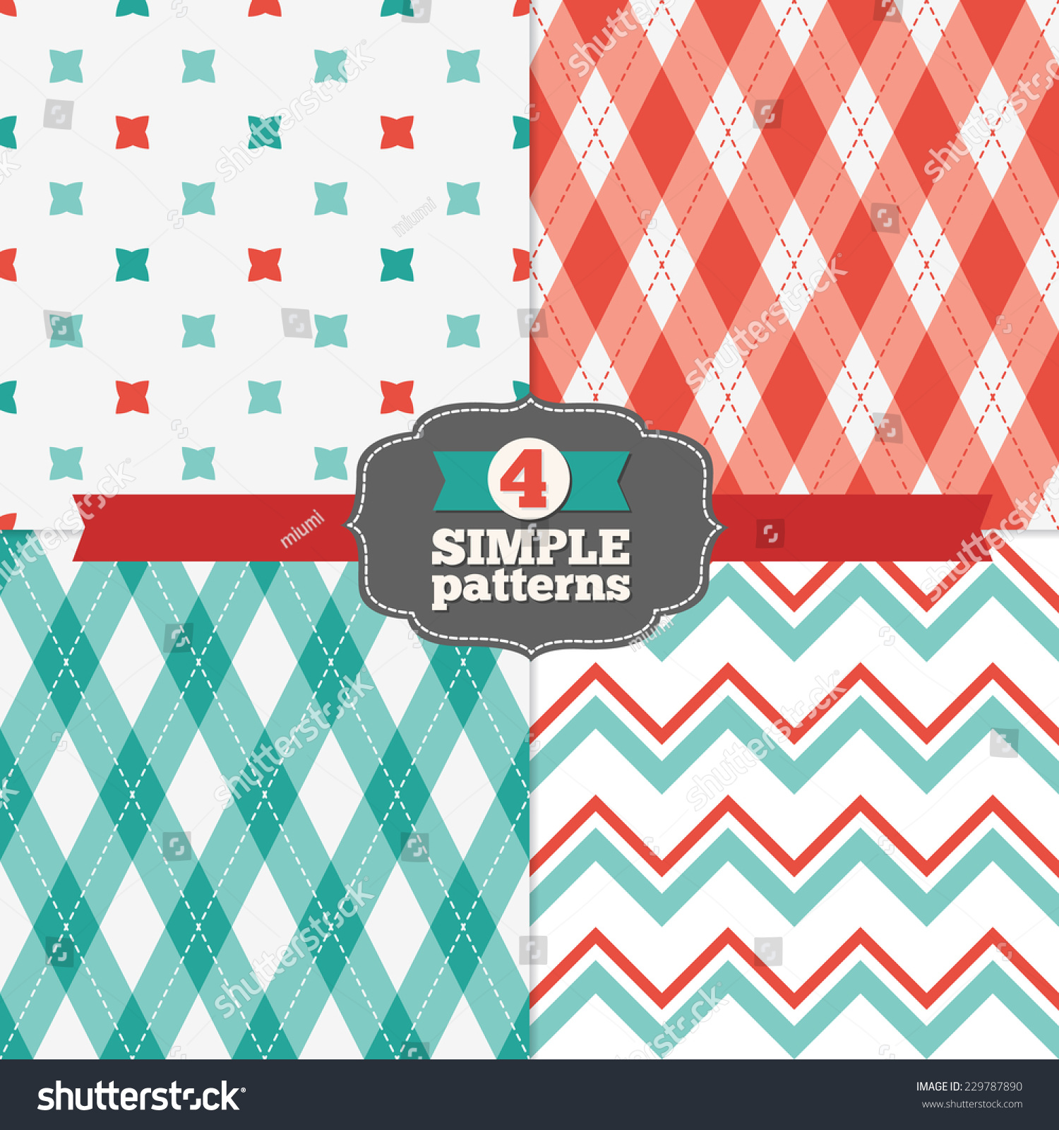 Pics photos merry christmas argyle twitter backgrounds - Set Of Crosses Chevron And Argyle Holiday Patterns In Red Light Red Teal