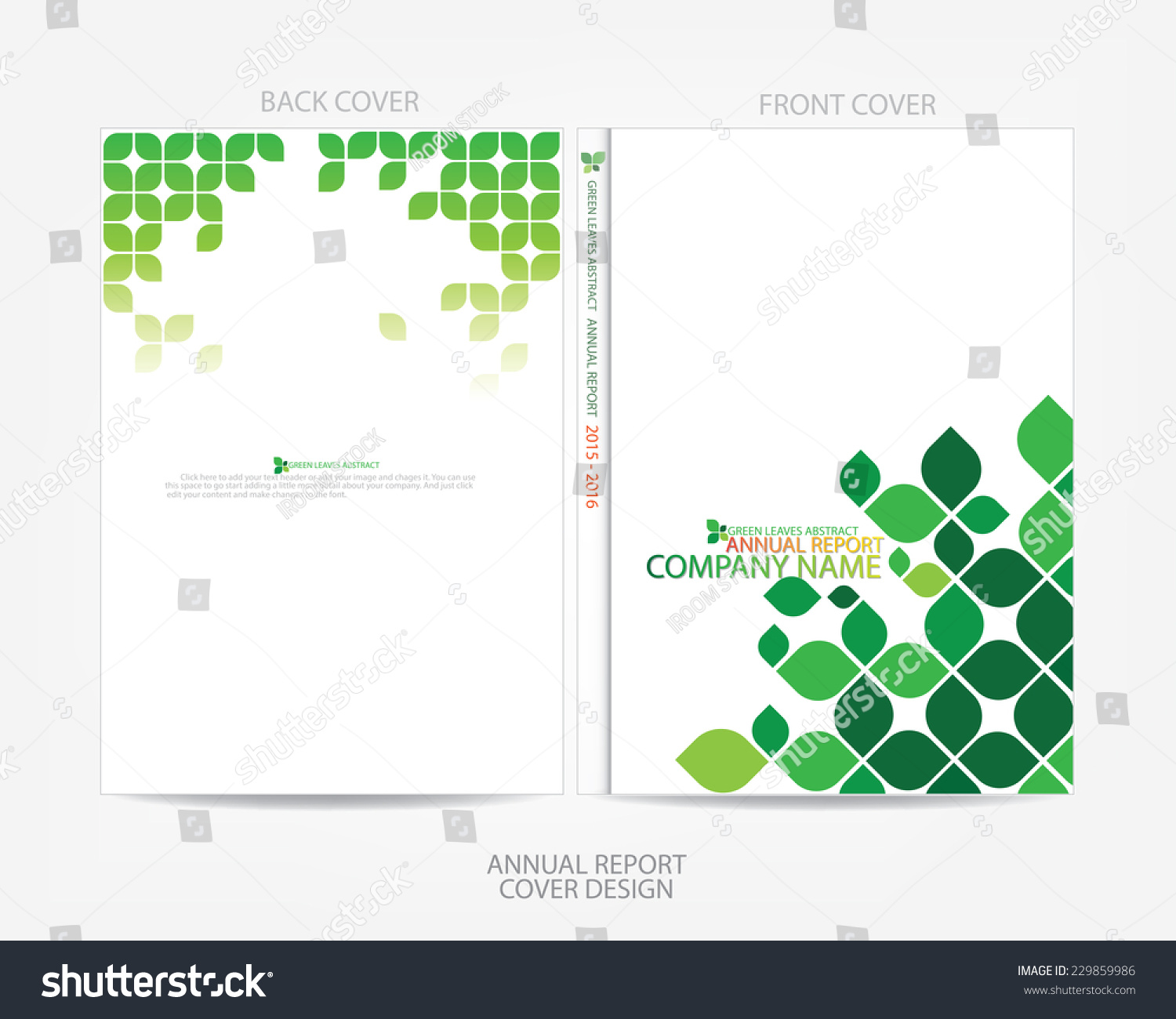 green leaves abstract annual report cover stock vector 229859986 green leaves abstract annual report cover design