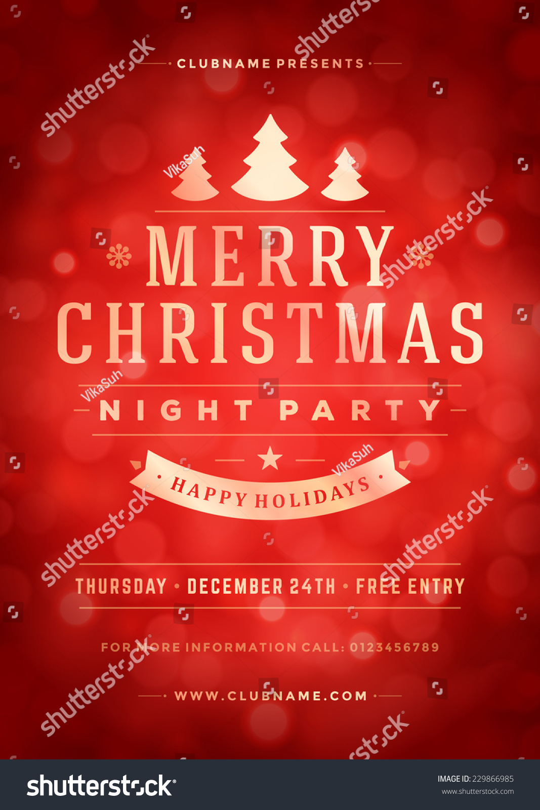 christmas night party poster flyer vector stock vector  christmas night party poster or flyer vector illustration merry christmas design template vector background